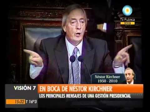 Los grandes discursos del ex presidente Nestor Kirchner