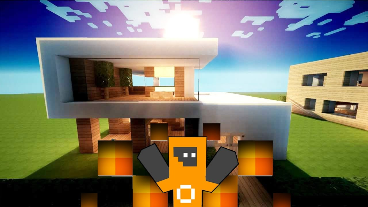 Modernes minecraft haus 20 pool im haus youtube for Minecraft modernes haus 20x20