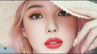 Summer Vacation Makeup🌞 (With sub) 썸머 바캉스 메이크업