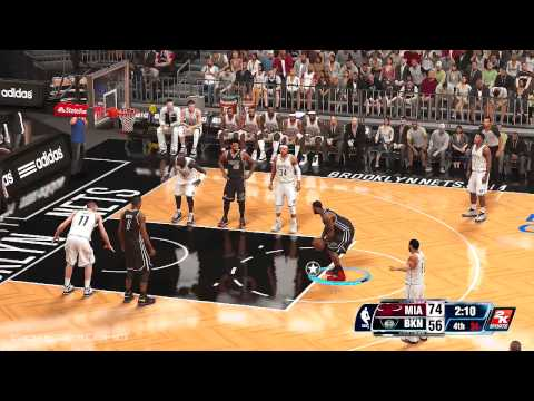 Miami Heat vs Brooklyn Nets - NBA 2K14 - Xbox One Gameplay w/ SICK