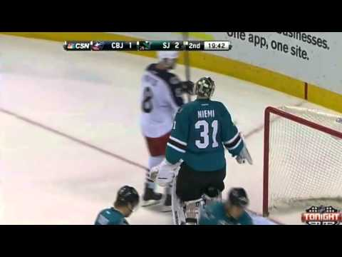 Ryan Johansen Goal - San Jose Sharks v Columbus Blue Jackets - February 7 2014
