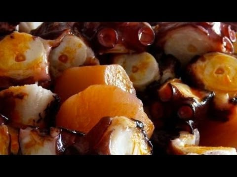Receta para preparar barbacoa de pulpo /  BBQ recipe for octopus