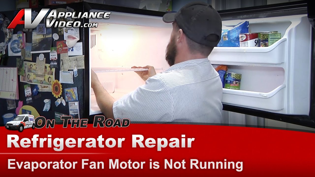Kenmore whirlpool refrigerator repair evaporator fan for Ge refrigerator condenser fan motor not working