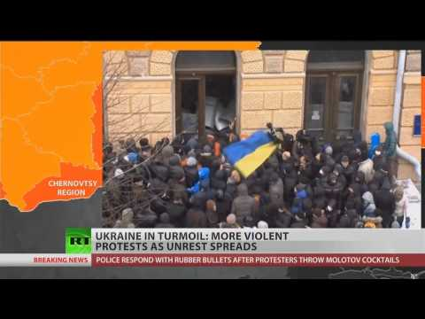 Violence spreads through Ukraine