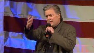 WOW: BREITBART'S Steve Bannon SLAMS the Main Stream Media at Roy Moore Rally in Alabama