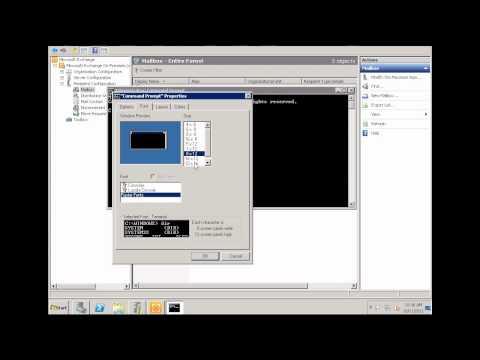 Exchange Server 2010 -Part 3 User Mailboxes
