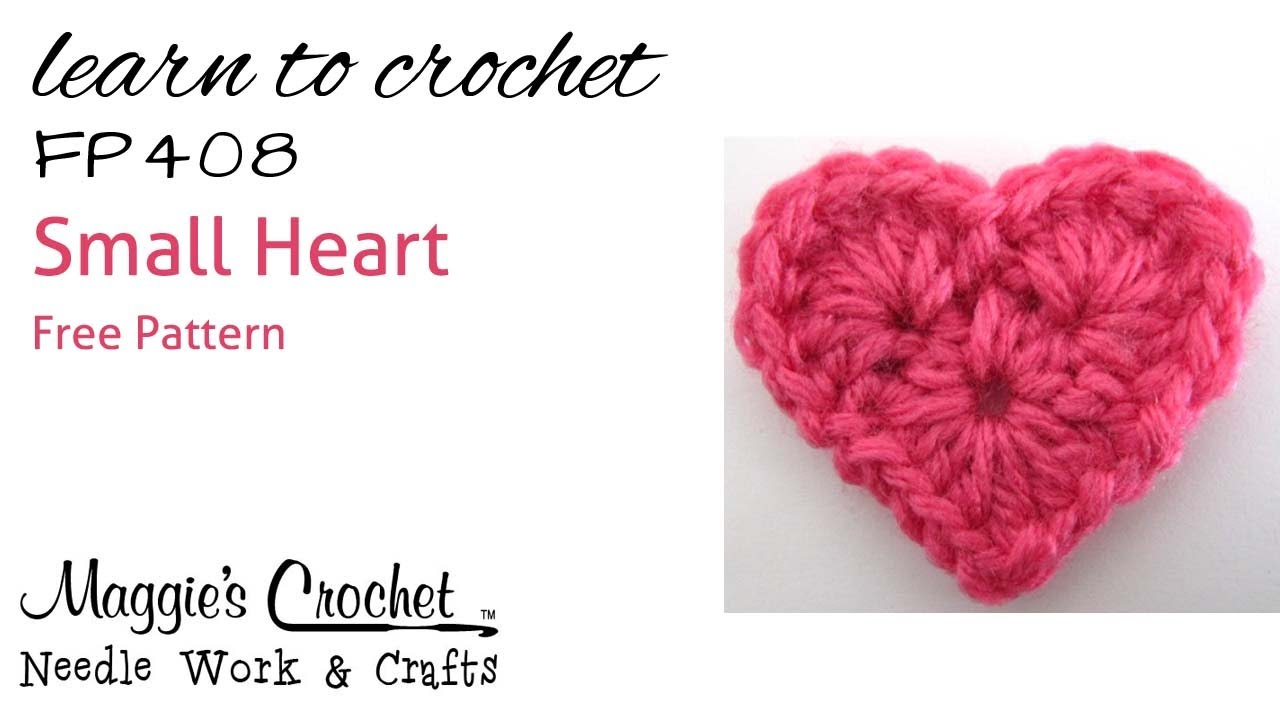 Crochet How To Free Pattern - Small Heart - RIGHT HANDED ...