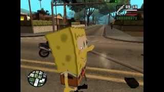 GTA San Andreas Bob Esponja Ataca Los Santos [Loquendo