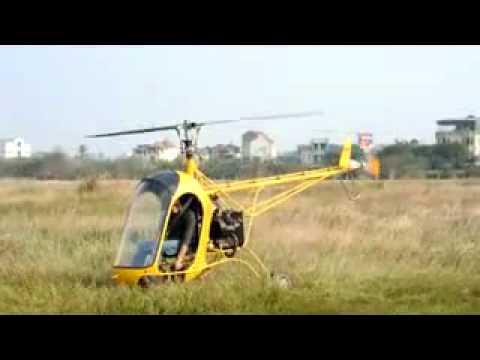 Thử nghiệm trực thăng tự chế của sinh viên Việt