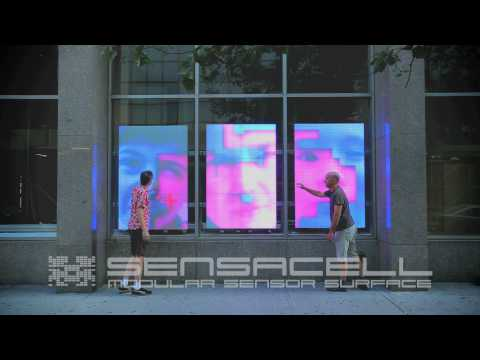 Interactive LED Art Windows 'prettyugly' by Robert Stratton
