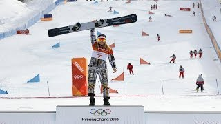 Snowboard Ester Ledecka adds gold on skis at the 2018 Winter Olympics in Pyeongchang.
