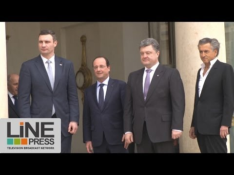 Visite de Vitali Klitschko et Petro Poroshenko (Евромайдан) à l'Elysée / Paris - France 07 mars 2014