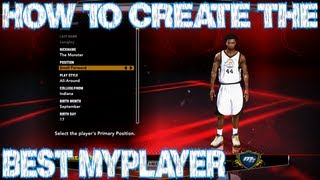 NBA 2K13 How To Create The Best My Player Cheese? Yes