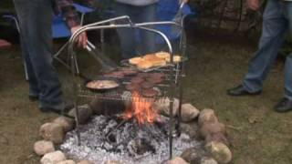 Cooking | quad pod campfire grill by grate mate outdoo | quad pod campfire grill by grate mate outdoo