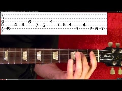 Horror Film Themes Guitar Lesson! JAWS - TWILIGHT ZONE - THE EXORCIST