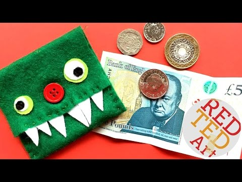 Easy Monster Purse DIY - How to Sew a Felt Purse - Easy Sewing Projects