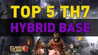 Clash Of Clans TOP 5 TH7 Hybrid Bases