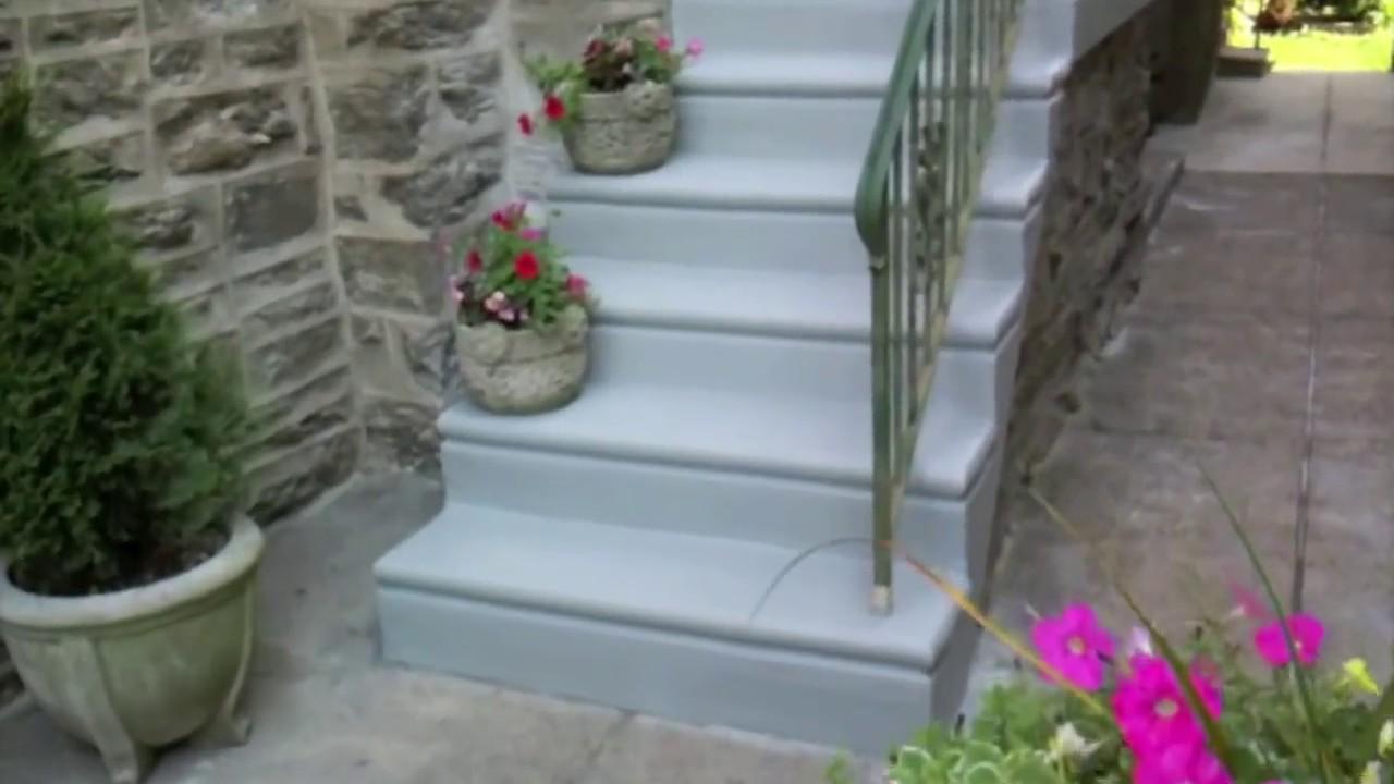 Concrete steps resurface repair concrete contractors - Resurfacing exterior concrete stairs ...
