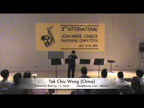3rd JMLISC: Tak Chiu Wong (China) Partita BWV1013 J.S. Bach