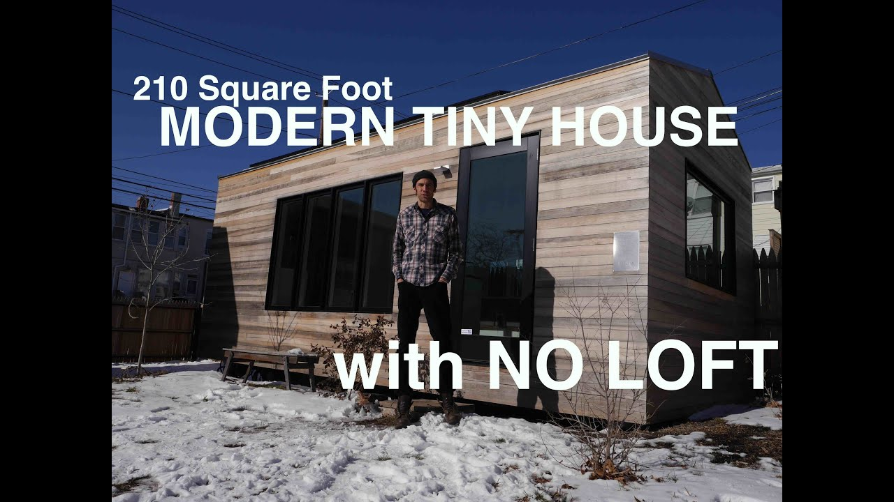 210 Square Foot MODERN Tiny House WITH NO LOFT YouTube