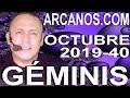Video Horóscopo Semanal GÉMINIS  del 29 Septiembre al 5 Octubre 2019 (Semana 2019-40) (Lectura del Tarot)
