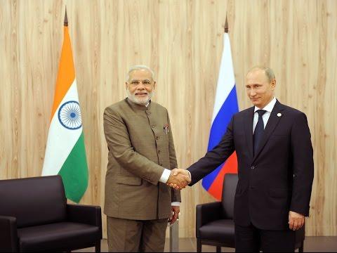 PM Narendra Modi meets President of Russia in Fortaleza, Brazil