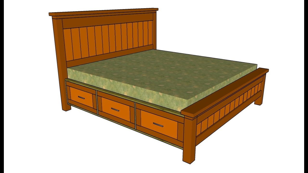 Build a platform bed frame with storage quick woodworking projects - How to make a platform bed with drawers ...