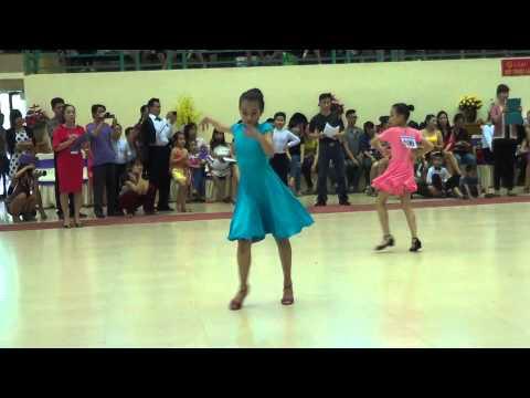 KIEU MY chung ket chachacha thieu nhi 2 dancesport HAI PHONG 2014
