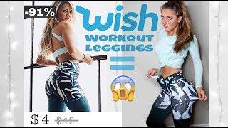 Buying $5 WISH Workout Leggings *Disaster*
