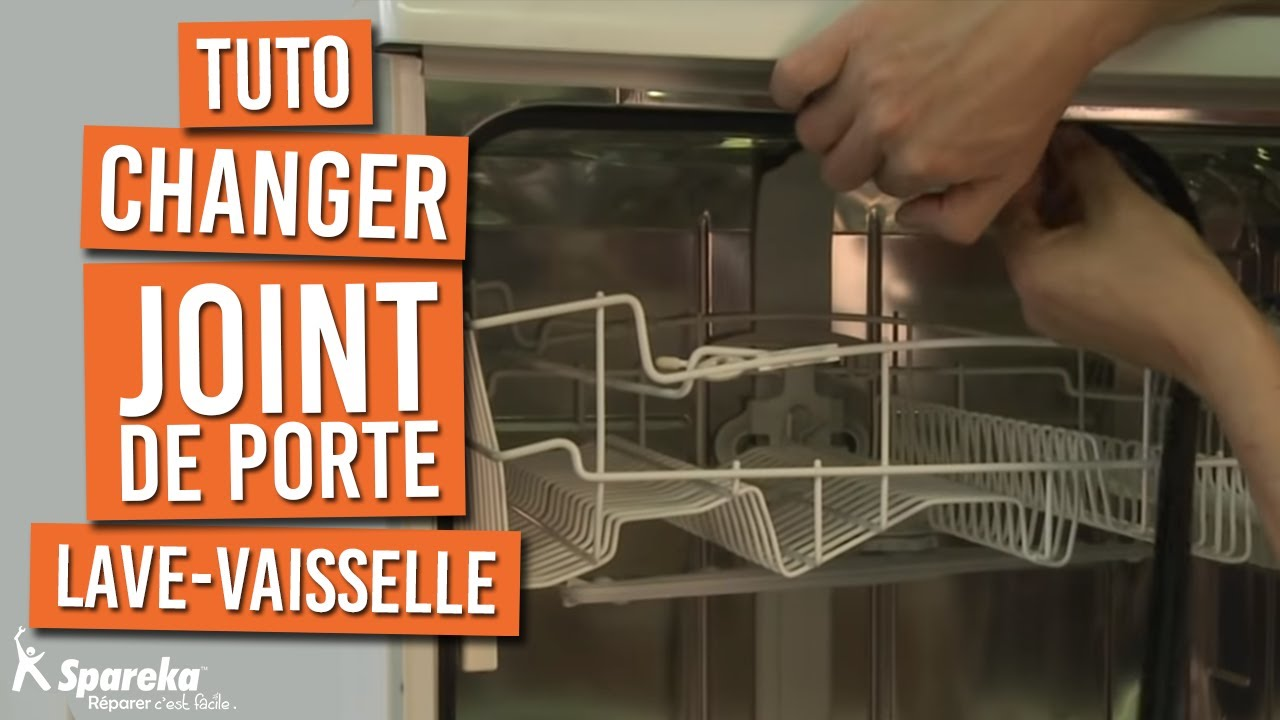Remplacer le joint de porte de votre lave vaisselle youtube - Montage porte lave vaisselle encastrable bosch ...