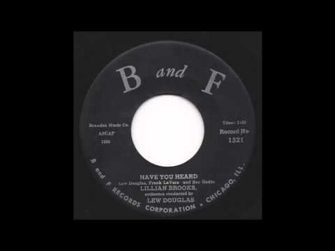 Lillian Brooks - Have You Heard - 50's Pop - B and F