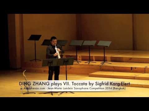 DING ZHANG plays VII Toccata by Sigfrid Karg Elert