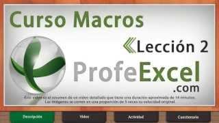 Curso De Excel 2013 Macros (resumen) Lección 2