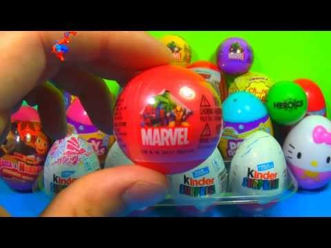 1 of 20 Kinder Surprise and Surprise eggs (SpongeBob Cars Hello Kitty TOY Story) MARVEL SPIDER MAN