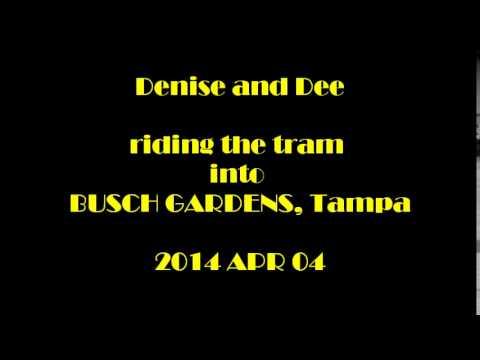 2014 APR 04 VIDEO   Denise and Dee riding the tram into Busch Gardens      Busch Gardens