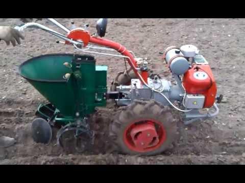 Посадка картошки мотоблоком Мотор Сич,  Potato Planter UA