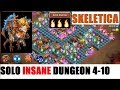 SKELETICA Challenge SOLO 3 Flame Insane Dungeon 4 10 Castle Clash