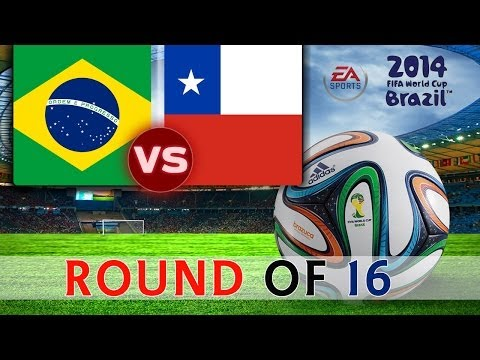 [TTB] 2014 FIFA World Cup Brazil - Brazil Vs Chile - ROUND OF 16 - Ep4