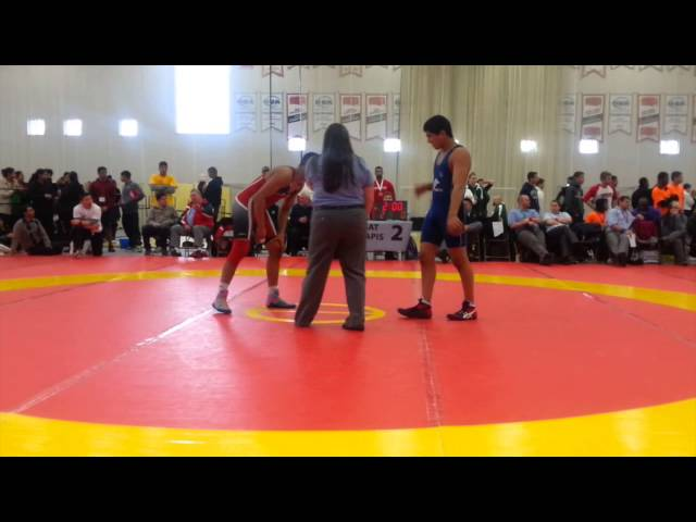 2014 Cadet National Championships: 76 kg Final Sarabnoor Lally vs. Manraj Kahlon