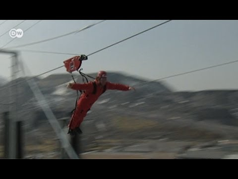 The Longest Zip Wire in Europe | Euromaxx