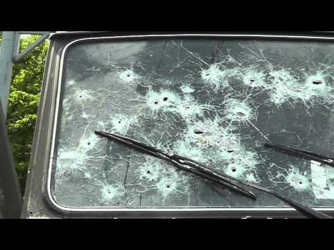 Расстрелянный камаз на путиловском