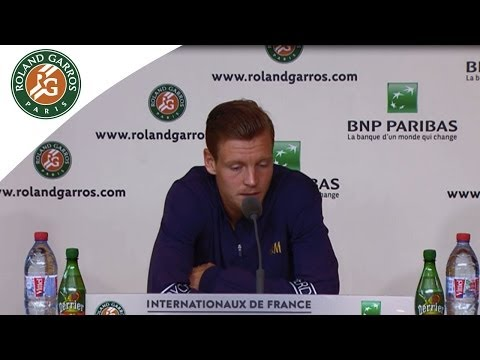 Press conference T.Berdych 2014 French Open QF