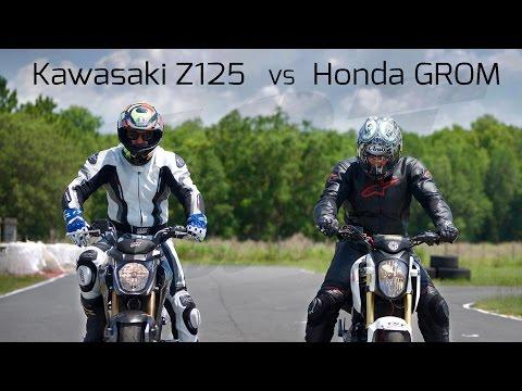 Honda Grom VS Kawasaki Z125: Track Battle