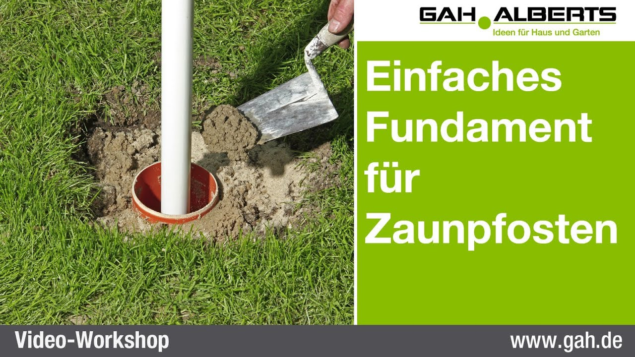 gah workshop einfaches fundament aus beton f r zaunpfosten erstellen youtube. Black Bedroom Furniture Sets. Home Design Ideas