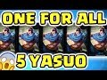 THE CRAZIEST GAME MODE EVER NEW ONE FOR ALL 5 YASUOS WINDWALL ENTIRE LANE THE WAY OF THE YASUO