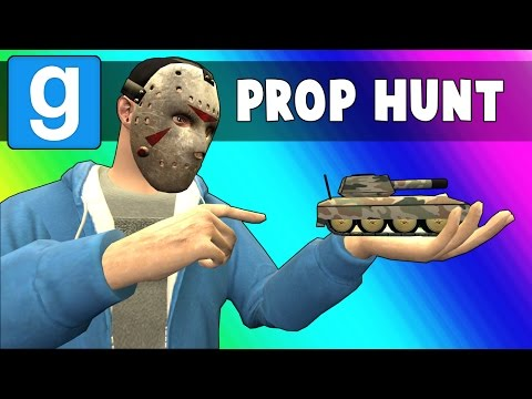 Gmod Prop Hunt Funny Moments - Crayons & Tanks! (Garry's Mod)