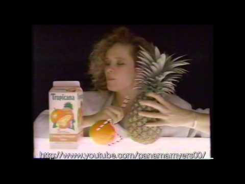 Tropicana Fruit Juice Mixed Fruits Commercial 1989