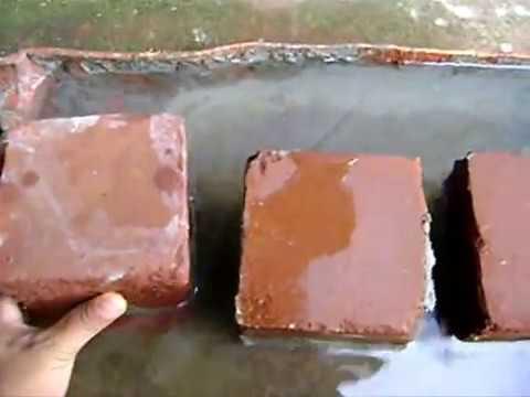 Tijolo Solo Cimento (tijolo ecológico) - CORPOS DE PROVA