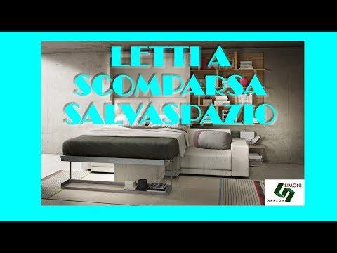 Letti a scomparsa simoni arreda youtube for Lideo arreda