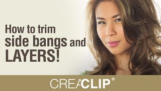 How To Trim Side Bangs And LAYERS! DIY Create Layered Cuts